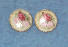Jewelry - Earrings Enamel with Roses