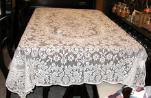 Tablecloth - Beige  Lace