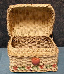 Wicker Jewerly Box - White