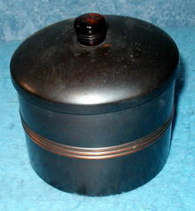 Unique Round Metal Container  - Original