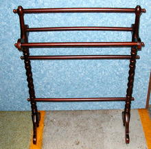 Quilt Rack -Twisted Solid Mahogany
