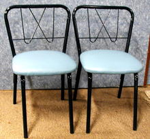 Child Chairs (2) Metal with Upholstered Seats