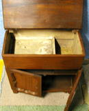 Wash Stand/Lift Lid/Walnut-All Original