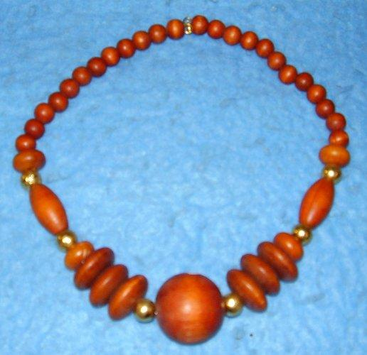 Necklace - Brown Beads