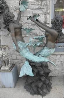 Mermaids Brass Water Fountain