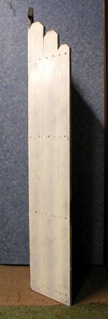 Corner Piece /Painted White w/handpainting