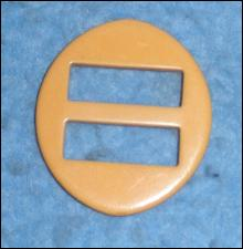 Belt Buckle - Yellow