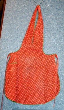 Apron (Red  with tiny flowers)