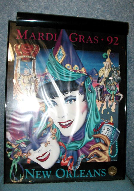 Mardi Gras 1992 - Lighted Picture B2951