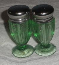 Salt and Pepper Shakers - Green