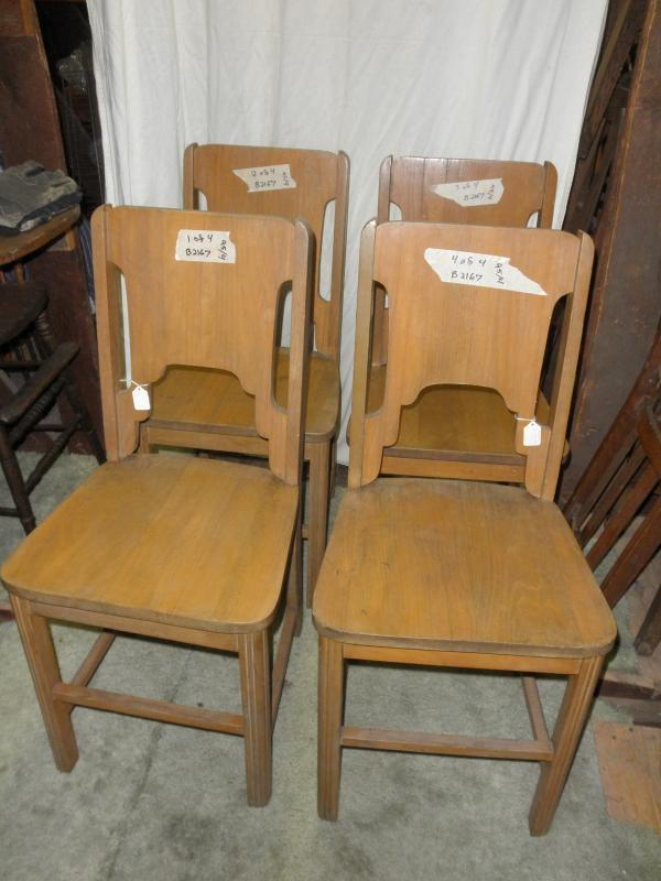 B2167  Vintage/Antique  Set of 4 Solid Chairs