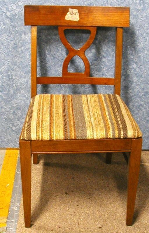 B2221    Vintage/Antique Set of 5 Chairs with Upholstered Seats