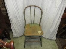 B3726  Vintage/Antique  Rounded Back Chair