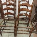 B3383  Vintage/Antique  Set of 4 Latter Back Chairs