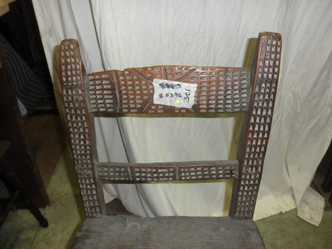 B5396  Antique  Primitive Hand Carved Chair