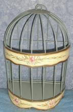 Y1032  Vintage Small Birdcage Planter