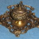 Y1039  Vintage Antique Brass Inkwell