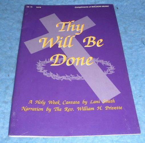 Song Book Thy Will Be Done