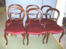 Chairs Set of 4 Walnut