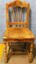 B2176  Vintage/Antique Set of 6 Oak Chairs