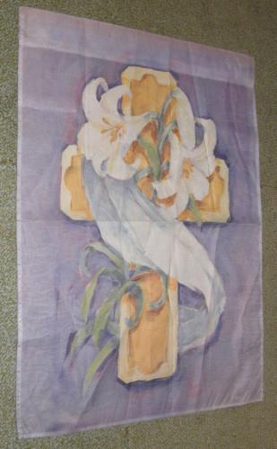 Flag - Easter Cross with Lilies