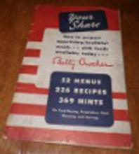 Betty Crocker Recipes-Your Share Cookbook B4578