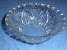 Bowl - Clear Patterned Glass B4498