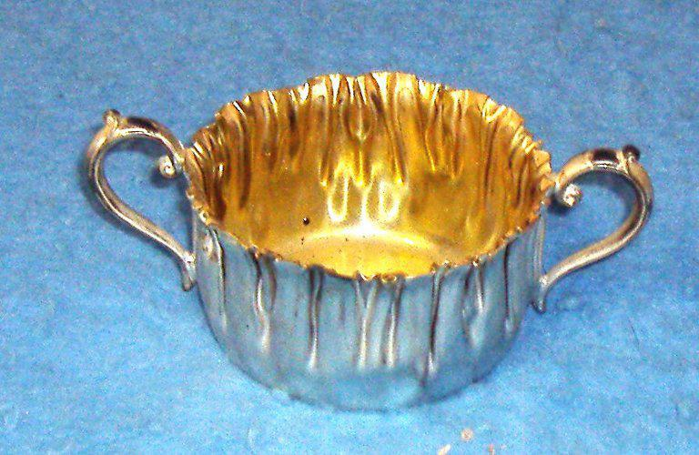 Bowl - Gold And Silver B3773