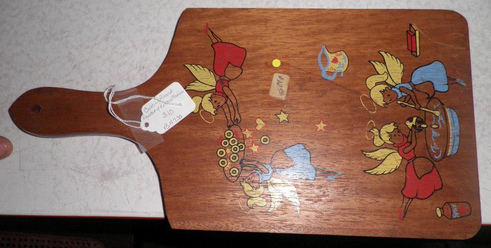 Cutting Board, Painted Angels on Wood B4730