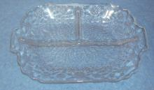 Dish - Clear Glass Relish Dish B3600