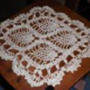 Doily - Crochet - White - Round B4530