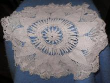 Doily - Red And Cream - Crochet - Some Damage B4694