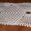 Doily - White - Crochet - Oblong B4525