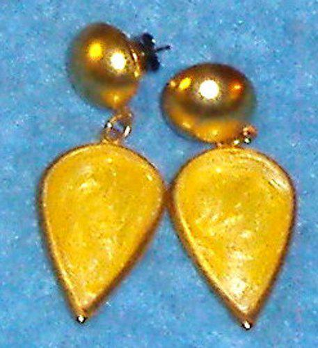 Earrings - Gold & Yellow B3624