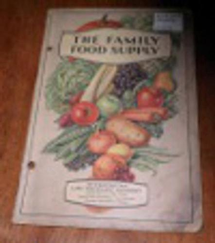 Family Food Supply Cookbook B4569