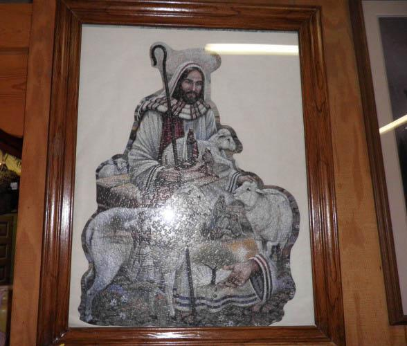 Framed Jesus with Lamb Puzzle B4831