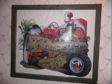 Framed Tractor Puzzle B4674