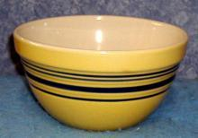 Mixing Bowl Set (3 in set) Yellow/Blue Stripe F132