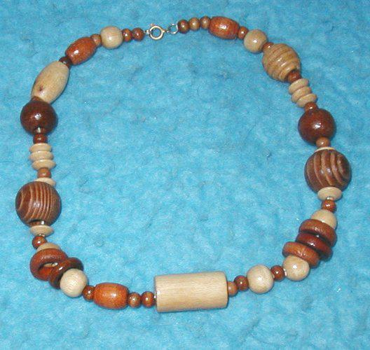 Necklace - Wood Beads B3145