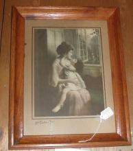 Picture With Oak Frame B4941