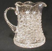 Pitcher, Cut Crystal Pitcher Y241