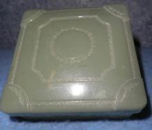 Plastic Box - Green - Square B4625