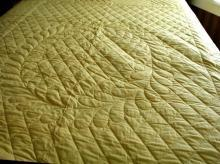 Quilt - Two Sided Yellow And Green B2787