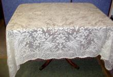 Tablecloth, Lace, Ecru B3564