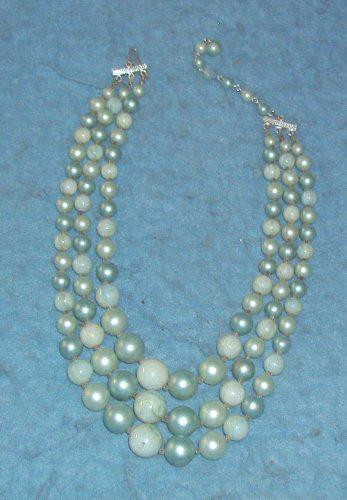 Two-Tone Blue Necklace B4220