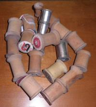Wooden Spools - String Of 20 B4662