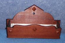 Wooden Wall Hanger-Metal Lined L103