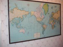 World Map Framed B3766