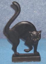 Door Stop Cast Iron Black Cat Y686