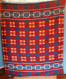 Blanket-Red-Blue-White - Indian Style